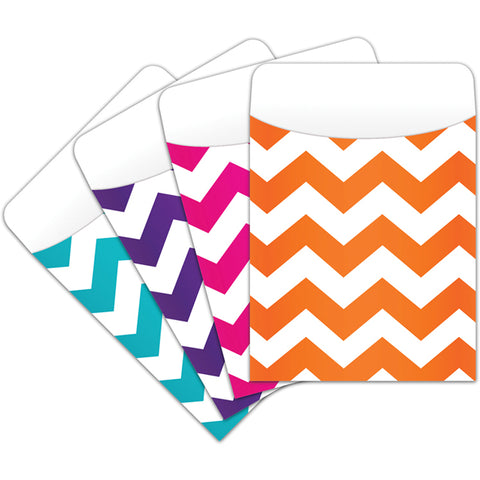 Chevron Peel & Stick Pockets 25Ct By Top Notch Teacher Products