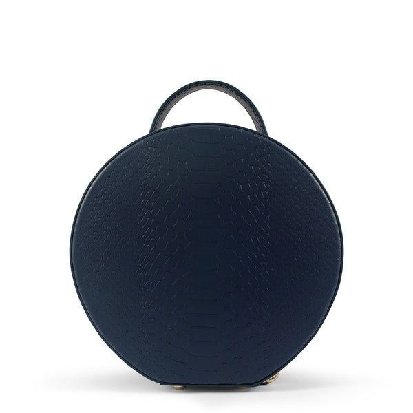 Back view of Latitu° Formosa handbag in navy blue