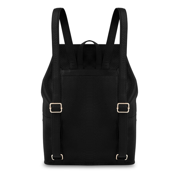 Back view of Latitu° Praha backpack in black
