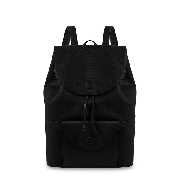 Front view of Latitu° Praha backpack in black
