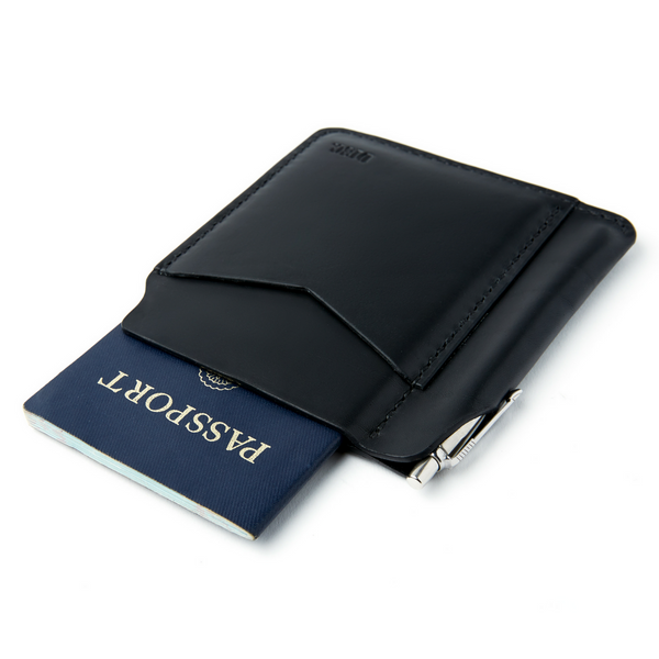 Disc Passport Wallet - Black