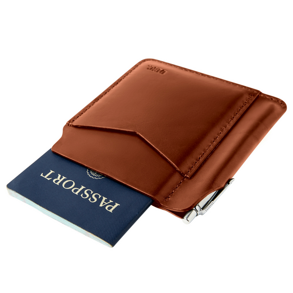 Disc Passport Wallet - Brown