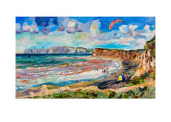 oil painting of Brook beach isle of wight