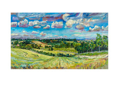 Fine art print of a view of Great Tew, Oxfordshire