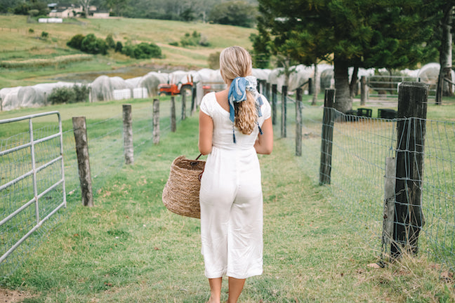 white midi off shoulder jumpsuit