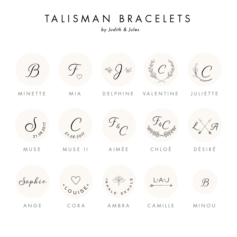 The TALISMAN collection features an array of personalized bracelets that keeps you and your dearest ones safe from harm and brings good luck. TELL YOUR STORY on a piece of personalized jewelry with a meaningful message, monogram, special symbol or a significant date. Each piece tells YOUR story and marks different moments of YOUR journey throughout life.