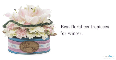 Floral centrepieces for winter