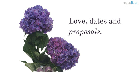 Flowers for love, dates and marriage proposals