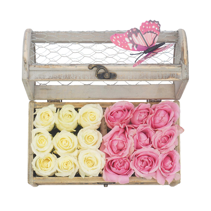 Roses in an elegant container
