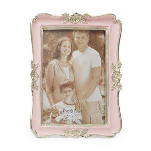 Photo Frame With Image & Flowers