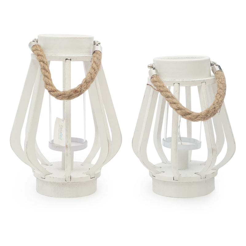 White Lanterns with Rope