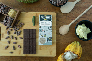 Paul and Mike 87% Dark Plain Chocolate 68g