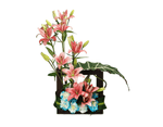 Load image into Gallery viewer, asiatic lilies & carnations in a wooden box