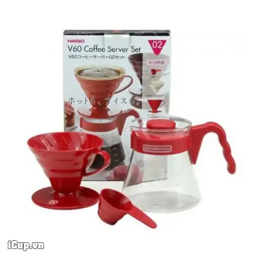 V60 Coffee Server 02 Set / Red
