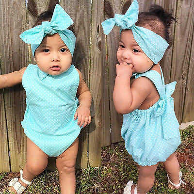 Baby Blue Dotted Set