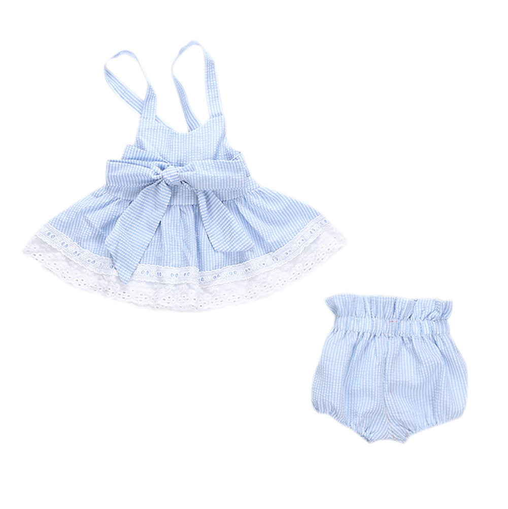 Baby Blue Bow Knot Set