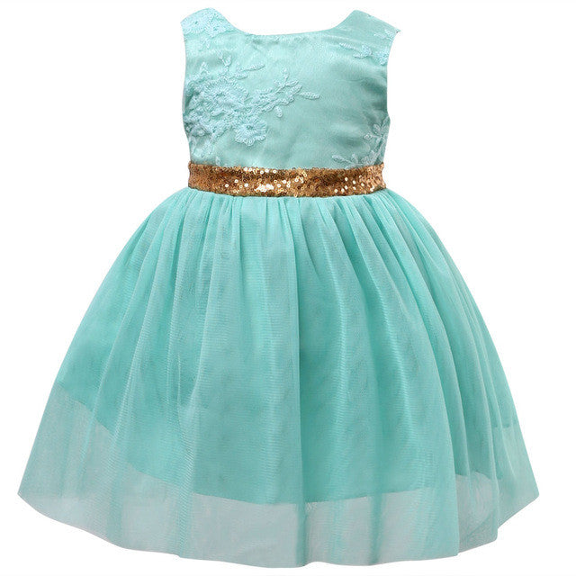 Gold Bowtie Princess Dress