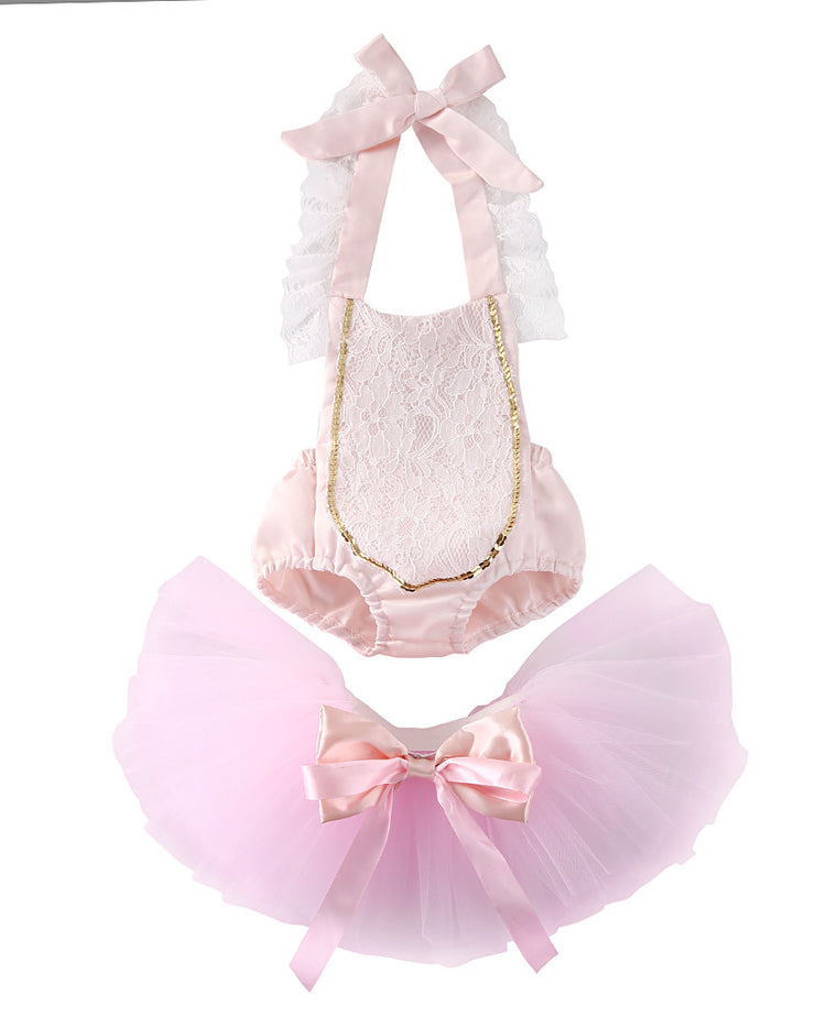 Halter Lace Tutu Set