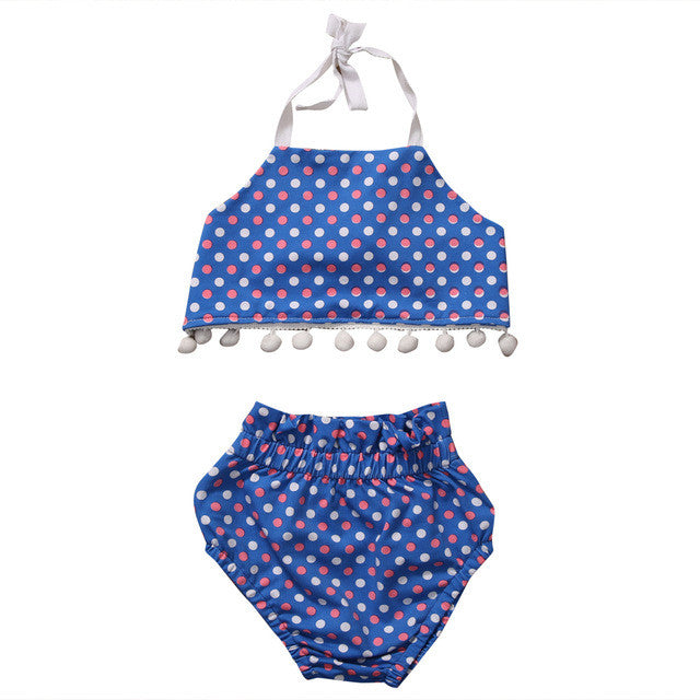 Blue Polka Dots Set