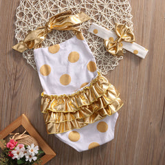 Gold Polka Dots Set
