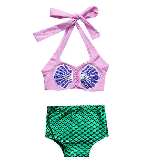 2 Pieces Mermaid Swimsuit