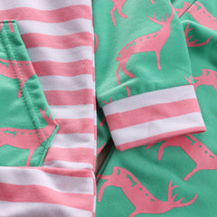 Green & Pink Stripes Set