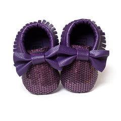 Bow Sequins Shoes