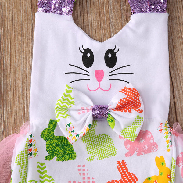Colorful Bunny Tulle Bodysuit