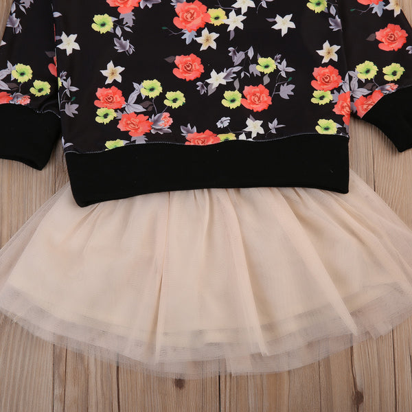 Floral Sweater Tutu Set