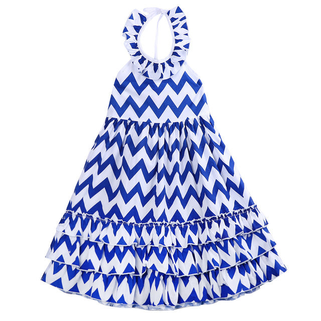 Blue Zigzag Dress