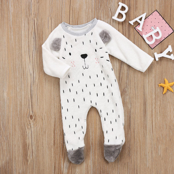 Fluffy Cartoon Animal Jumpsuit