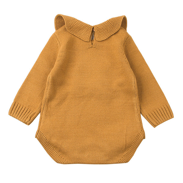 Knitted Long Sleeves Bodysuit