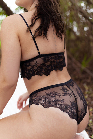 Lace Panty in Ebony