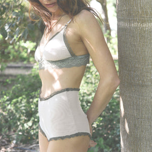 High Waist Knickers in Wild Olive