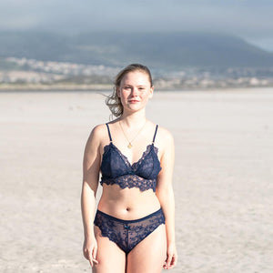 Indie Bralette in Midnight Blue