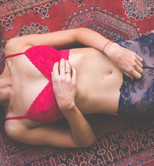 Indie Bralette in Bright Cherry
