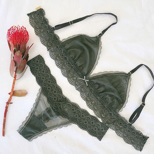 Lace Thong in Jungle