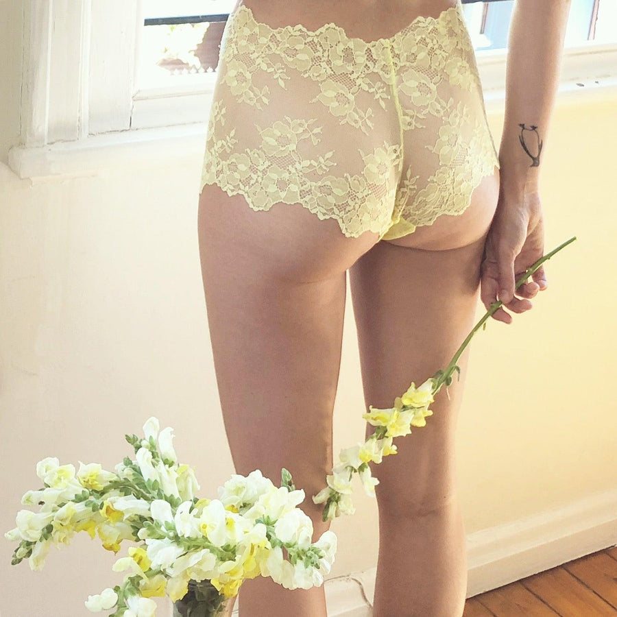 Cheeky Boyshort in Lemon Sorbet