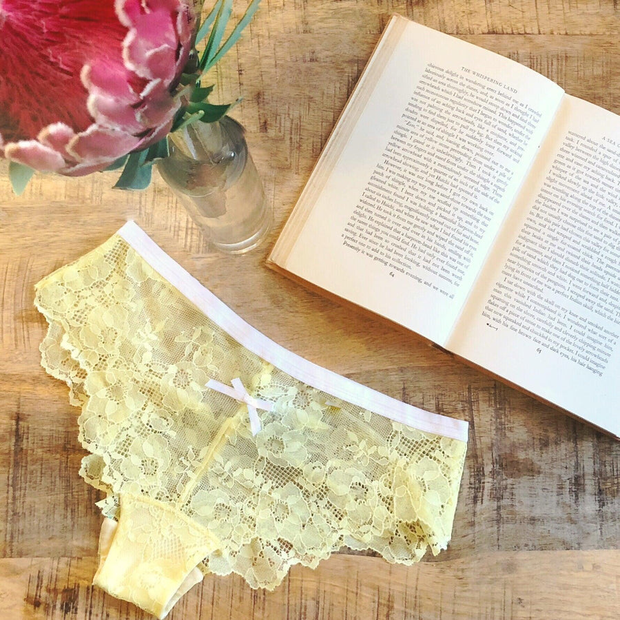 Lace Panty in Lemon Sorbet