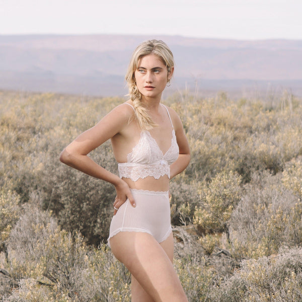 High Waist Knickers in Coconut Milk