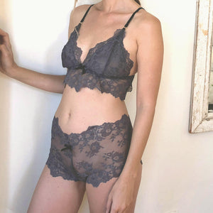 Indie Bralette in Gunmetal Grey