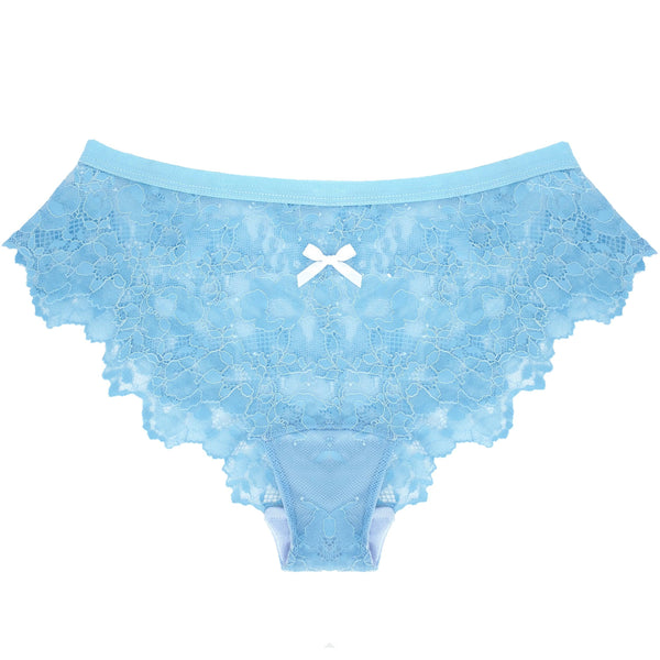 Lace Panty in Wedgwood Blue