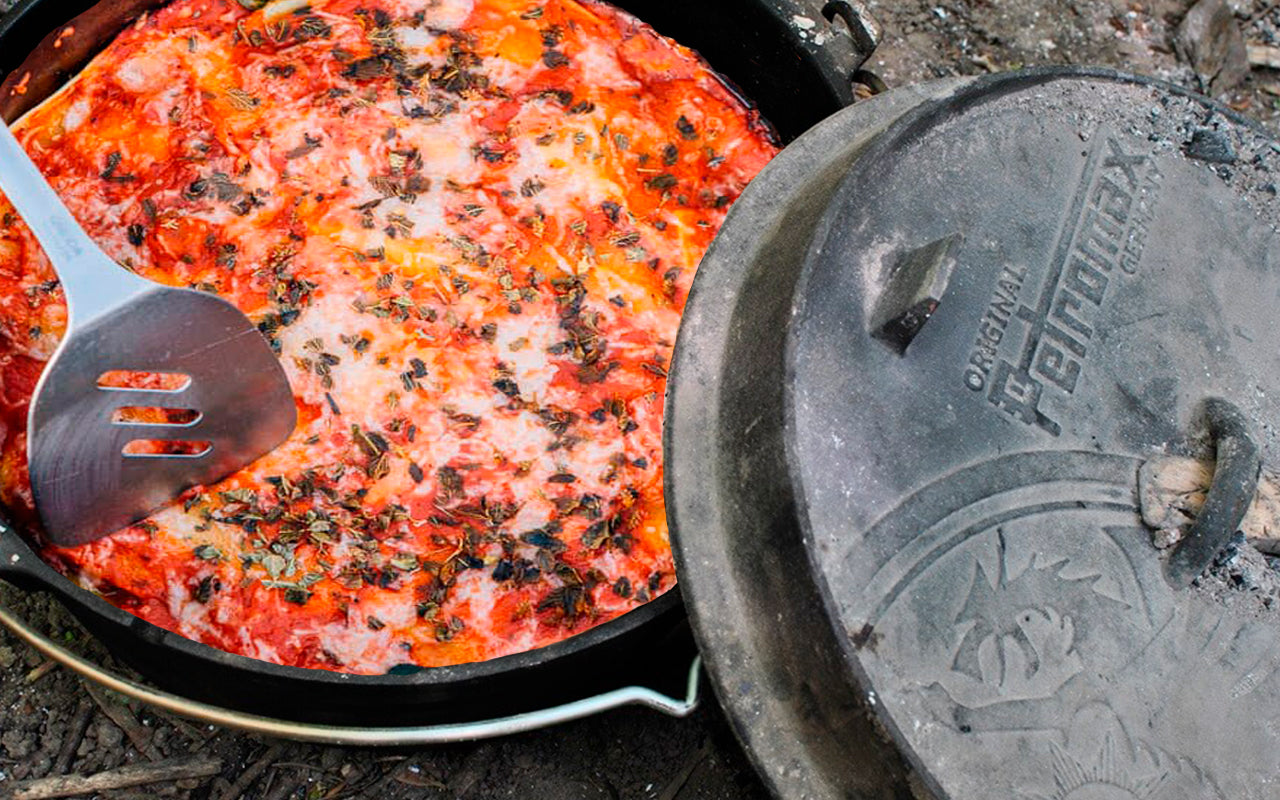 One Pot Lasagne - Bålmad - Outdoor Cooking