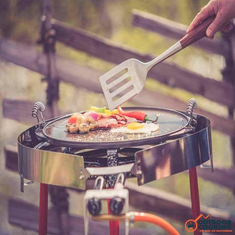Grillpande i støbejern, vendbar 47 cm - Outdoor Cooking