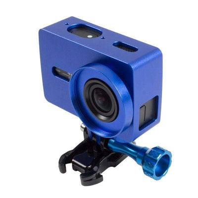 Aluminum Frame Case UV Filter For Xiaomi Yi 2 4K Xiaoyi 2 Sport Camera Accessory-geardeal.online-Blue Color-GearDeal.Online