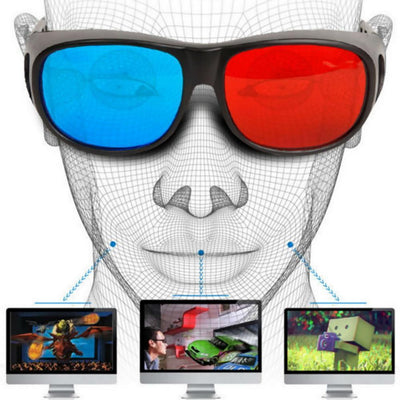 Anaglyph Dimensional 3D Vision Glass for TV Movie Game - Red Blue - BLUE AND RED-Virtual Reality-GearDeal.Online-GearDeal.Online