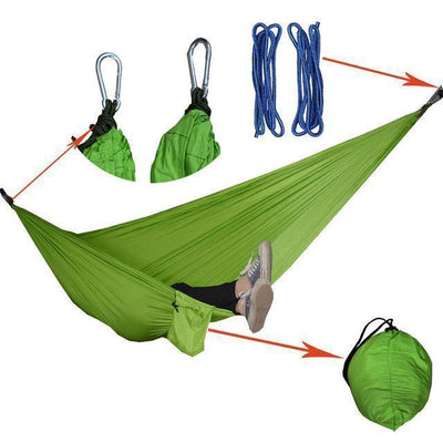 Hanging Sleeping Nylon Fabric-GearDeal.Online-apple green-GearDeal.Online