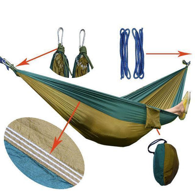 Hanging Sleeping Nylon Fabric-GearDeal.Online-blackish green camel-GearDeal.Online