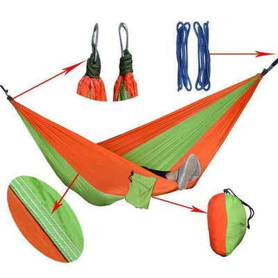 Hanging Sleeping Nylon Fabric-GearDeal.Online-orange appgreen-GearDeal.Online