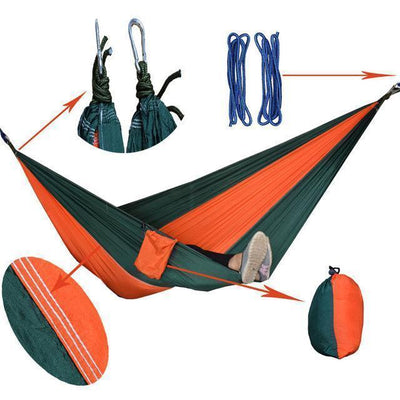 Hanging Sleeping Nylon Fabric-GearDeal.Online-orange blagreen-GearDeal.Online